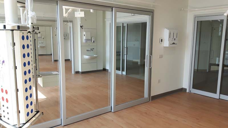ICU doors for healthcare industry with Horton Automatics